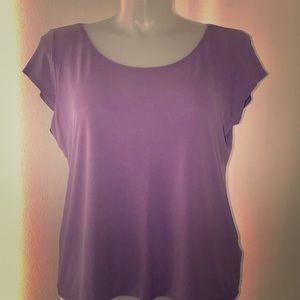Eileen Fisher Washable Stretch Crêpe Tshirt Top XL